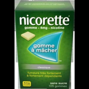 Nicorette 4mg Gomme S/s 105
