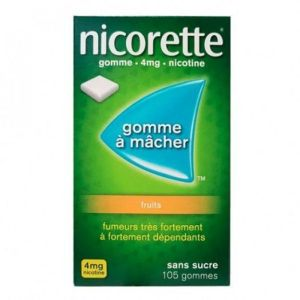 Nicorette 4mg Gomme Fruits S/s