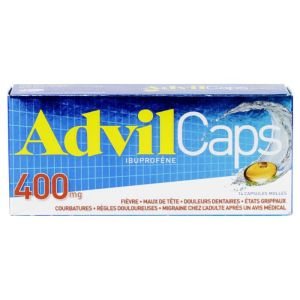 Advilcaps 400mg Capsules Bte/1