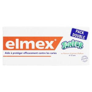 Elmex Dentifrice Junior Lot/2x