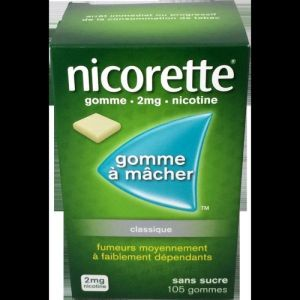 Nicorette 2mg Gomme S/s 105