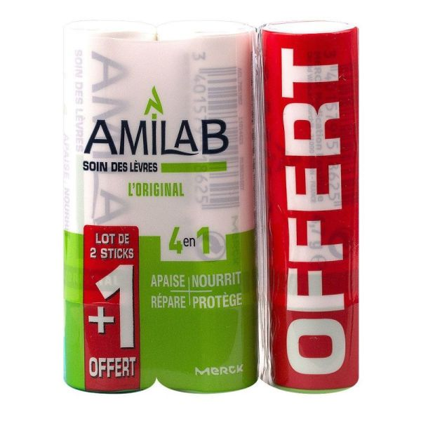 Amilab Stick Soin Lev 3,6ml X3